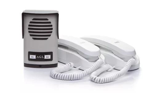 Kit Interfone Porteiro Eletrônico Coletivo De 2 Pontos -