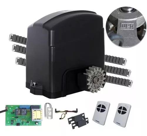 Kit Motor Portão Deslizante 1/4 Agl 2 Controle 3