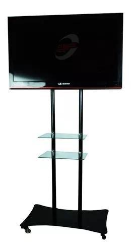 Suporte Tv Pedestal 32 -70 Pol Lcd Led Plasma Com Prateleira