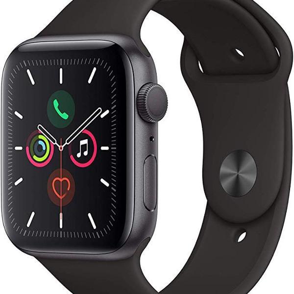 novo com nota fiscal! apple watch series 5 gps 40 mm caixa