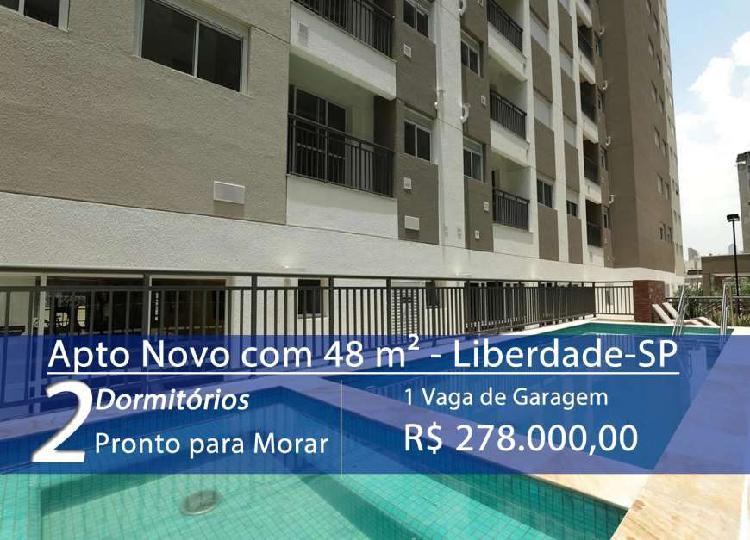 Apartamento Novo de 48 m² Pronto para Morar em Liberdade -