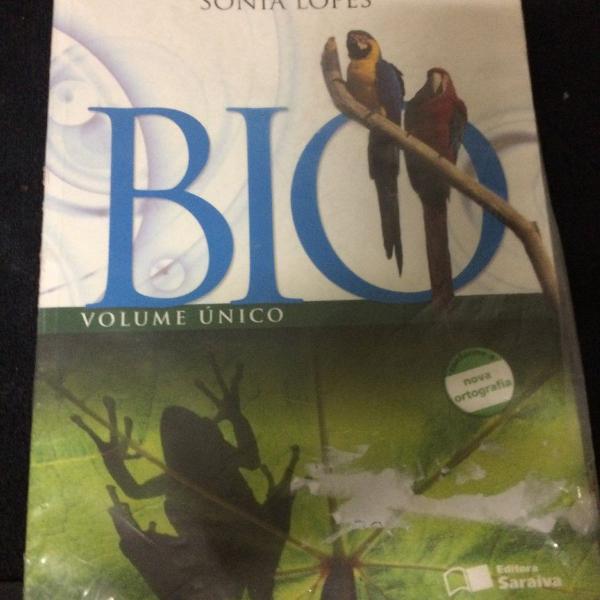 livro de biologia- volume único -