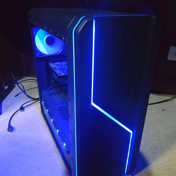 pc gamer + monitor lg 25 widescreen