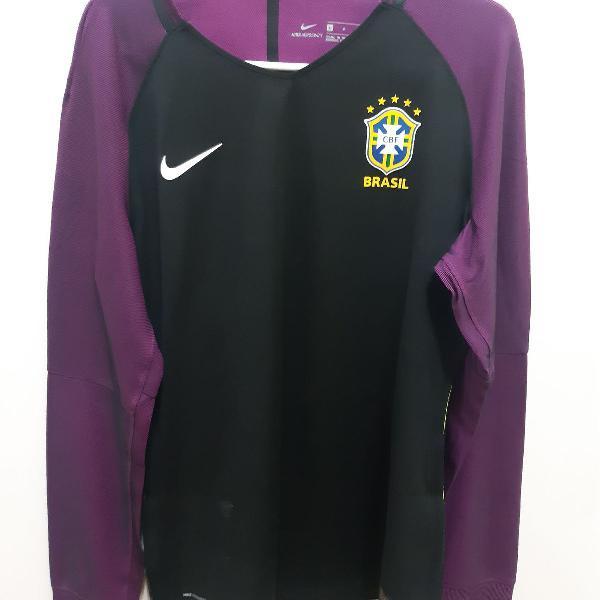 Camiseta manga comprida Nike oficial seleção brasileira