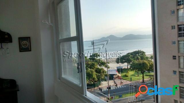 Apartamento em Santos 1 dormitório vista mar.