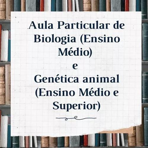 Aulas Particulares De Biologia E Genética Animal