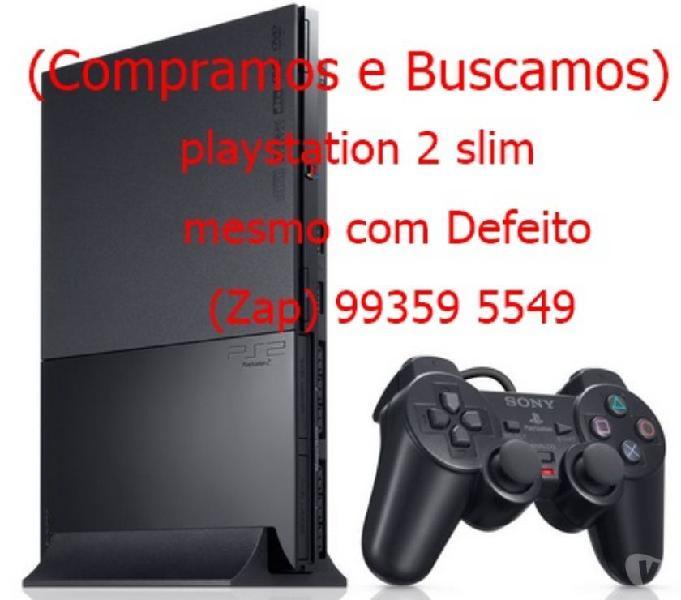 COMPRAMOS E BUSCAMOS) Playstation 2 Slim Pago Até