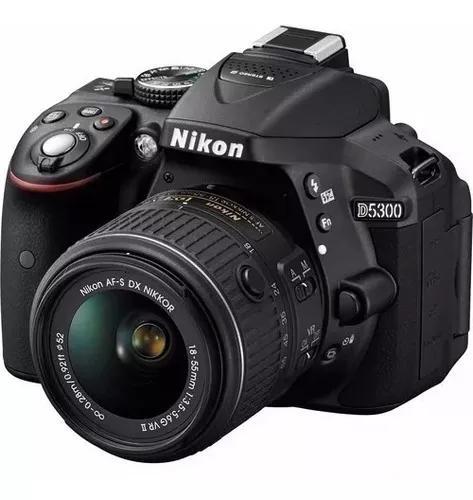 Camera Nikon D5300 C/ Lente 18-55mm Vr Ii
