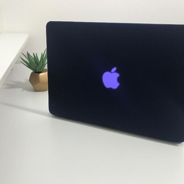 """case capa par macbook air 13"""" azul marinho"""
