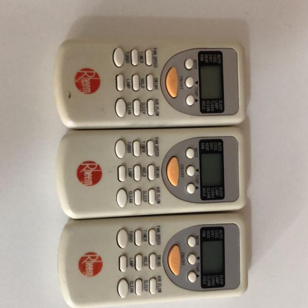controle para ar condicionado rheem - zht/jt-01