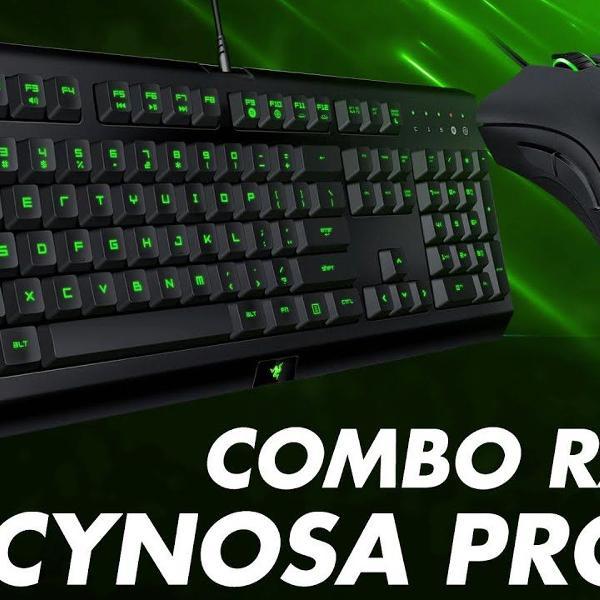 teclado razer cynosa pro combo com mouse deathadder