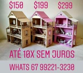 Casinhas de boneca em mdf