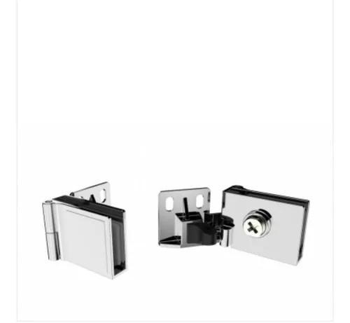 Dobradiça Para Rack / Vitrine Porta De Vidro 4mm E 6mm -