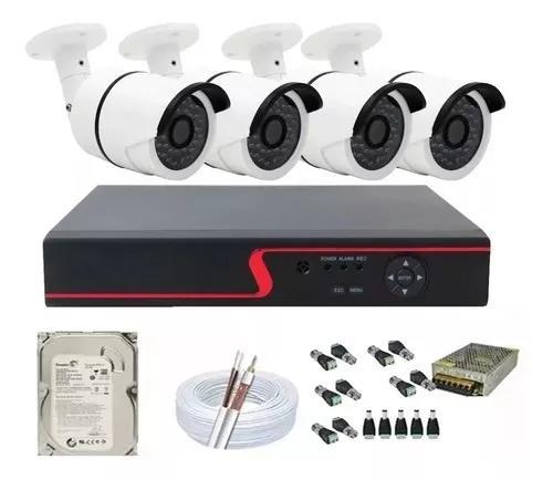 Kit 4 Câmeras Segurança Residencial Ahd Smart Cloud R
