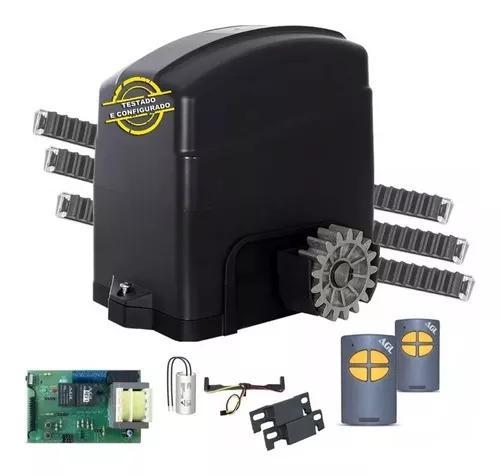 Kit Motor Portão Eletrônico Deslizante Agl 300 1/5 Hp