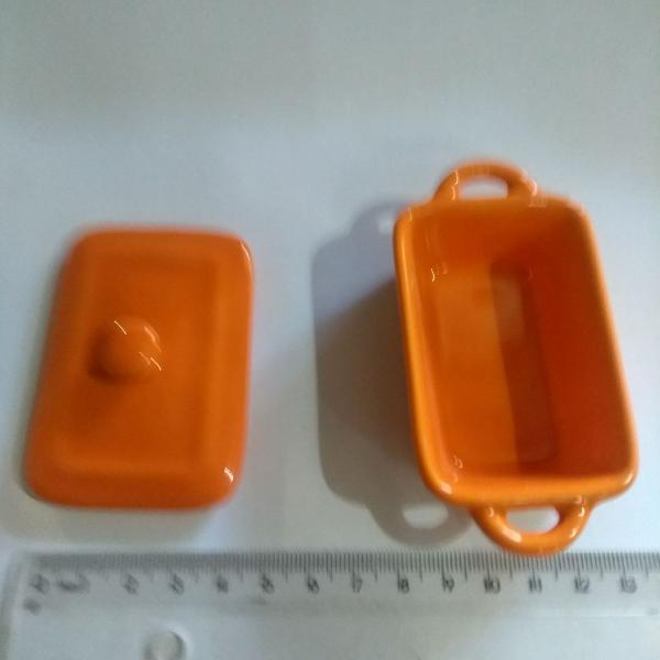 Mini panelinhas de cerâmica/louça, kit com 4 unidades