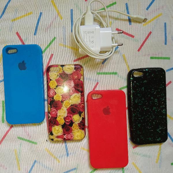 capinhax e carregador de iphone 5c