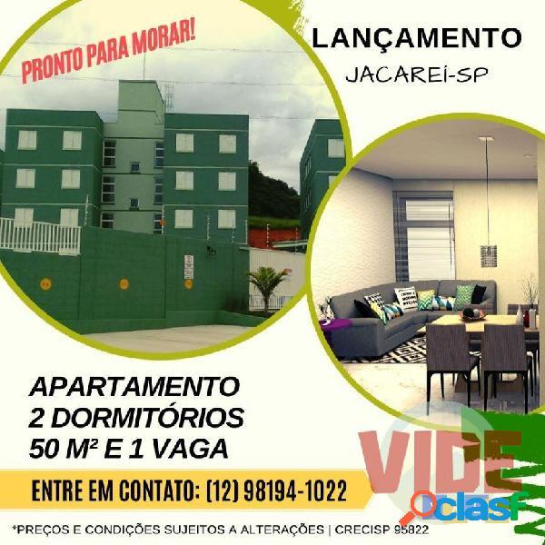 Lançamento em Jacareí! Apartamento novo, 2 dorms., 50 m²,
