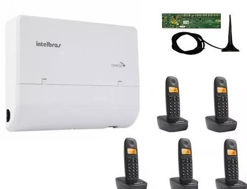 Central Pabx Conecta + 2 Linhas E 8 R. Placa Dect + Telefone