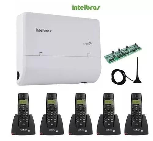 Kit Central Pabx Conecta + 2/8 Intelbras + 5 Ramais S