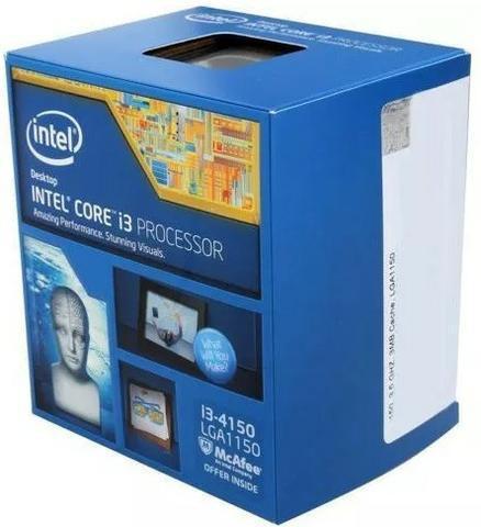 Kit i3 4150 + 4gb hyperX + placa mãe