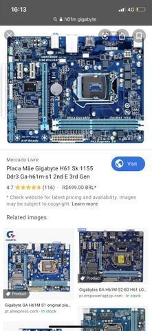 Kit placa mãe h61M e processador i5 2330