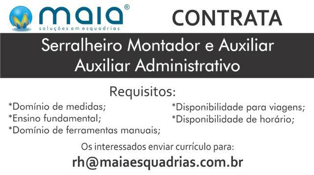 Vaga de Serralheiro e Aux ADM