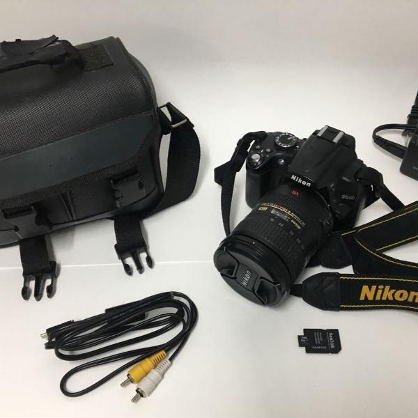 câmera nikon d5000 lente nikon 18-200mm