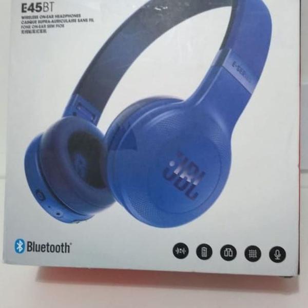 fone de ouvido sem fio jbl azul royal e45bt bluetooth