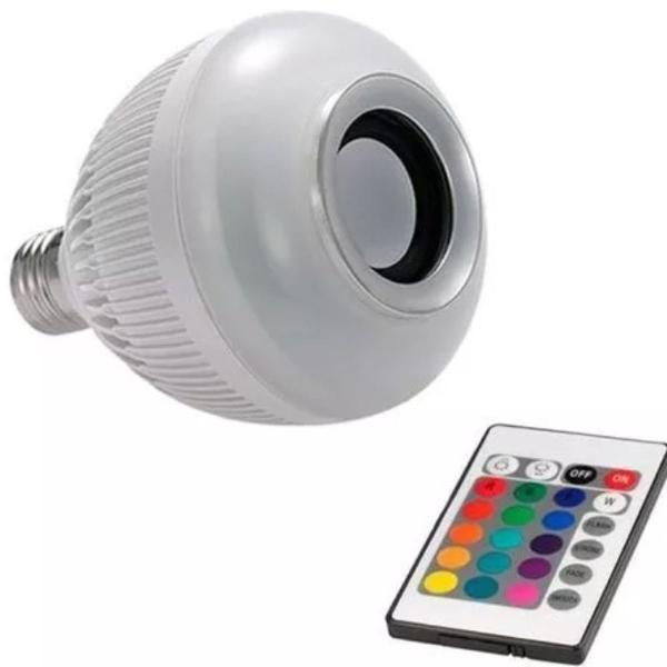 lampada led 6 w rgb com som bluetooth