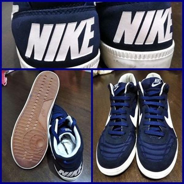tênis nike botinha azul escuro