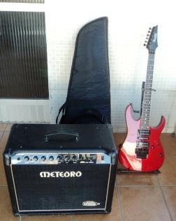 Amplificador Meteoro + Guitarra Elétrica Ibanez Grg270