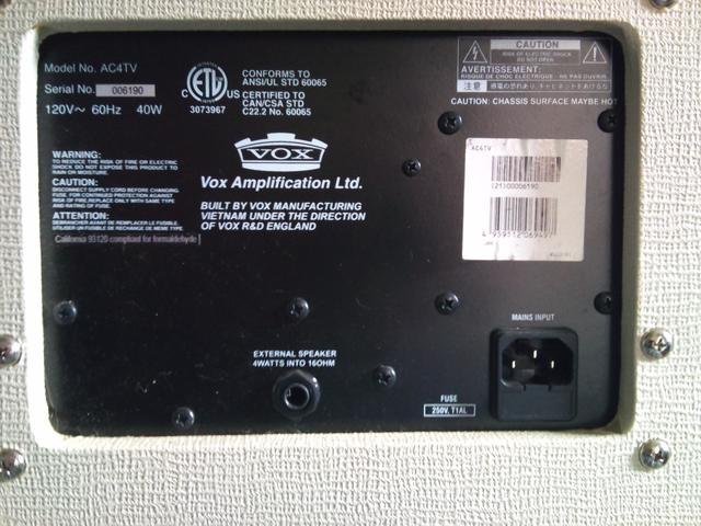 Amplificador VOX AC4TV Combo Valvulado