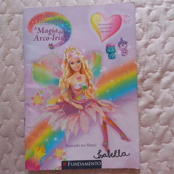 Livro barbie fairytopia a magia do arco íris