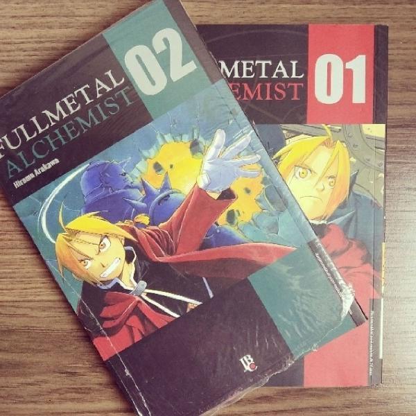 Mangás Fullmetal Alchemist Volumes 1 e 2