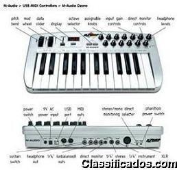 Vendo Teclado Midi com Mixer e Placa de Audio!