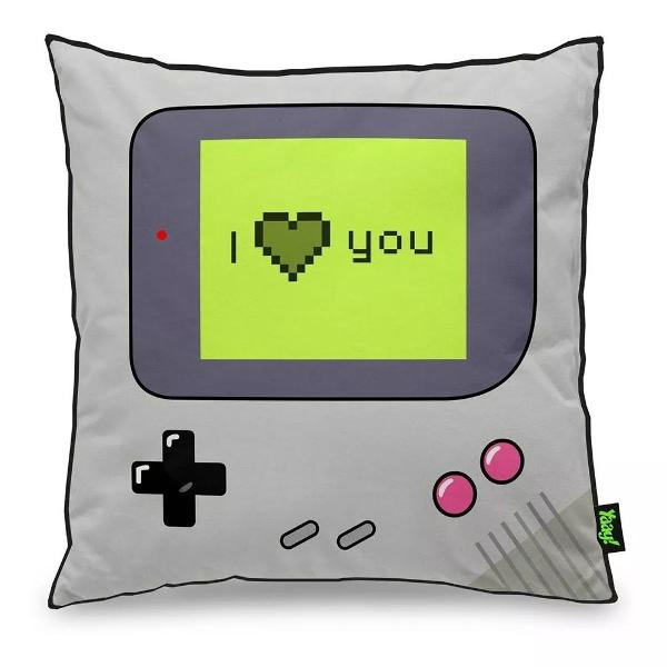 almofada gamer boy - i love you - 40 x 40 cm