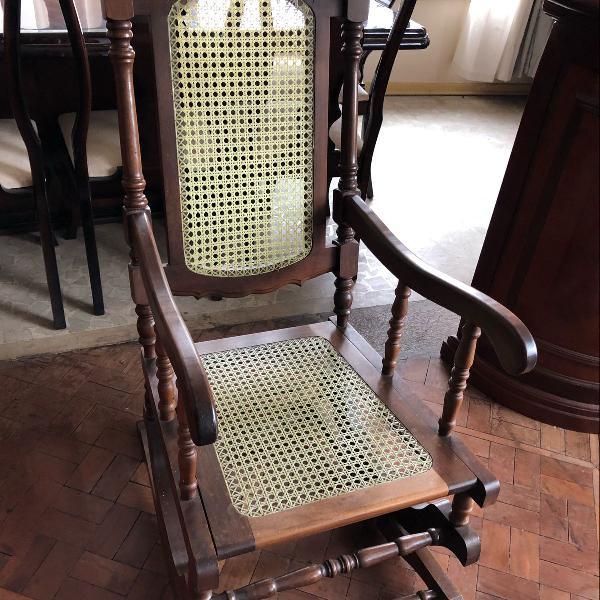 cadeira de balanço palhinha com molas para retirada