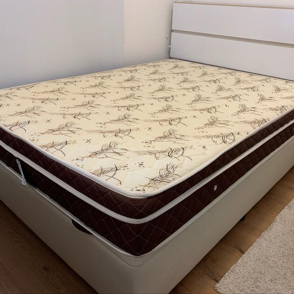 cama box baú + colchão