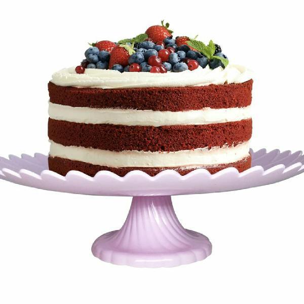 kit 4 pratos para bolo com pedestal removível