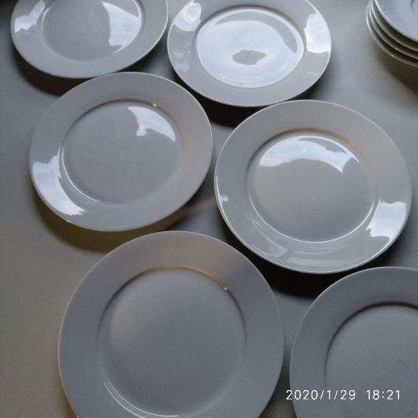 kit 6 pratinhos de porcelana para sobremesa bem conservados