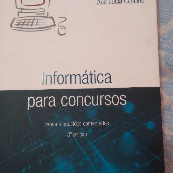 livro de Ana Lúcia Castilho - informática para concursos