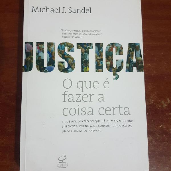 livro justiça o que é fazer a coisa certa