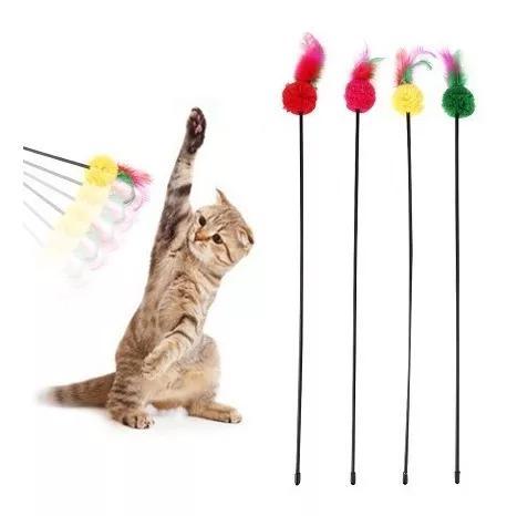 Brinquedo Para Gato Haste 55 Cm 1 Peça