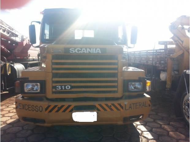 SCANIA T 142 H COM MOTOR 112 E CARRETA PRANCHA 3 EIXO