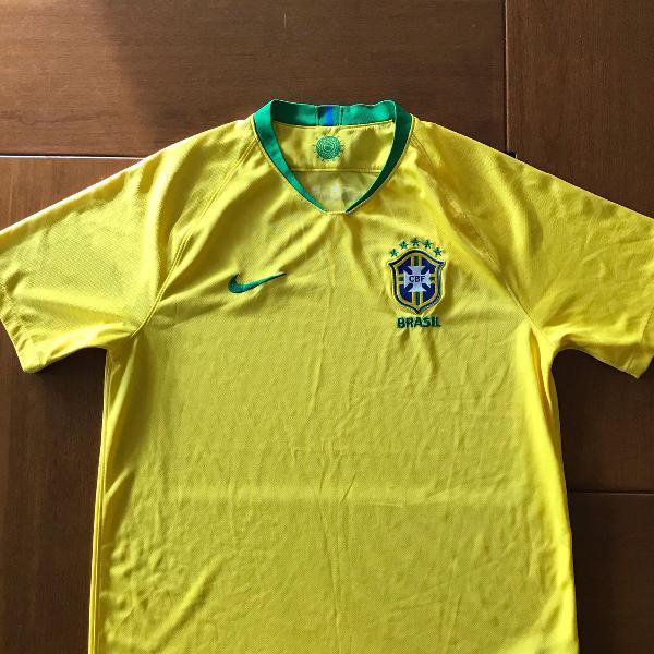camisa seleção brasileira original modelo 2018