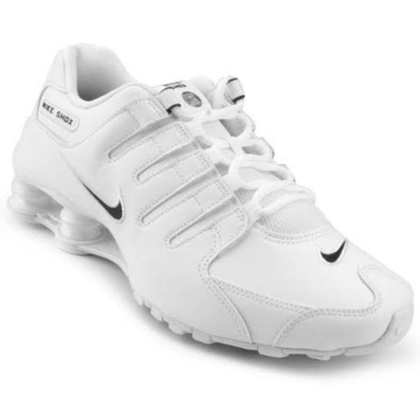 tênis nike shox nz 4 molas tamanho 38 branco - envio