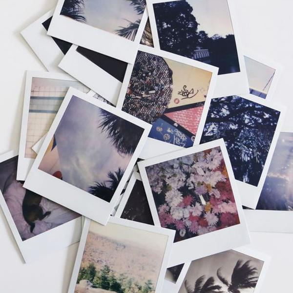 12 fotinhas polaroids personalizadas pra você chamar de sua