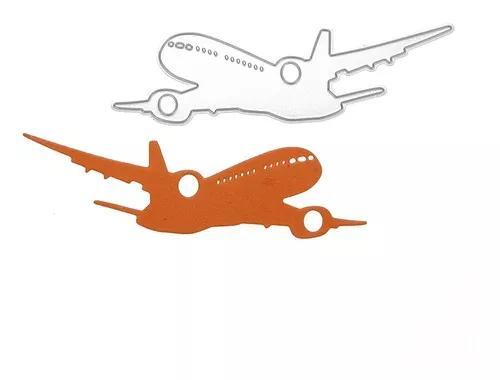 Avião Decor Carbono Aço Estêncil Diy Papel Ofício Corte