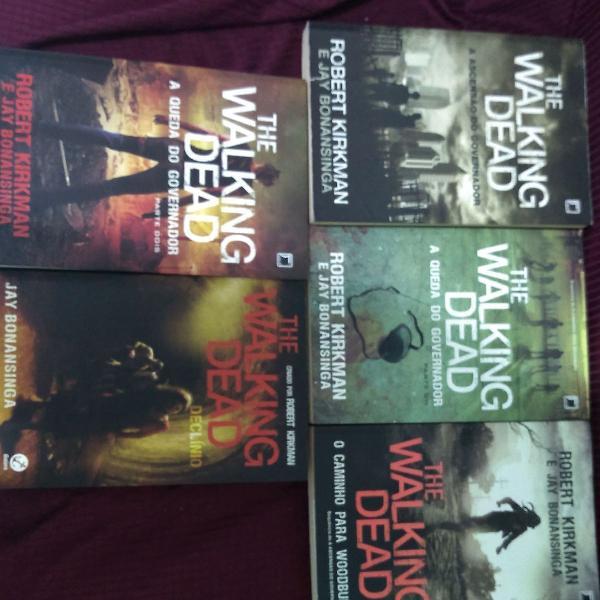 Coleção The Walking Dead - 5 Livros em ótimo estado de